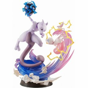 G.E.M. EX Series Pocket Monsters Pre-Painted PVC Figure: Mew & Mewtwo (Re-run)