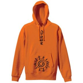 Naruto: Shippuden - Eight Trigrams Seal Pullover Hoodie Orange